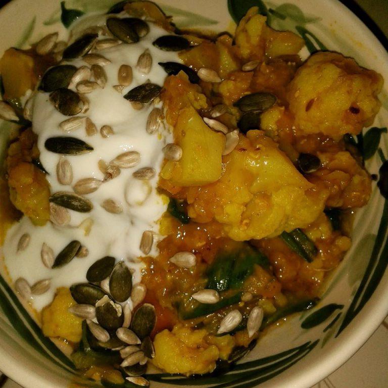 Cauliflower and Spinach Dahl